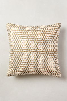 If only you weren't 100 dollars... Hand-Embroidered Roundels Pillow - anthropologie.com