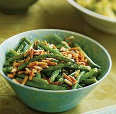 Green Beans with Toasted Slivered Almonds