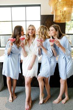 Set of 4 Bridesmaid Robes // Robe // Bridal Robe // Robe // Bridal Party Robes // Bridesmaid Gifts // Jersey Robe // Candace Bridal Party Robes, Bridal Dresses, Flower Girl Dresses, Tiffany's Bridal, Bridal Shower, Bridesmaid Robes, Brides And Bridesmaids, Bridesmaid Pictures, Blue Wedding