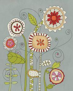 Line art flowers, flower line drawings, flower art, line flower, illustration flower Doodle Drawings, Doodle Art, Zentangle Patterns, Embroidery Patterns, Zentangles, Bird Doodle, Flower Doodles, Doodle Flowers