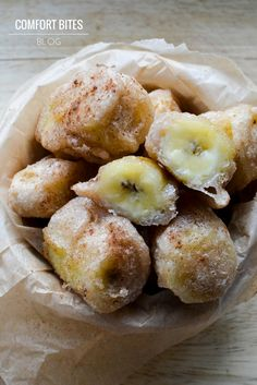 Sweet and crunchy banana fritters, a street food classic - gluten, dairy and nut free - and paleo and AIP compliant, too. This post co. Paleo Sweets, Paleo Dessert, Crepes, Banana Fritters, Banana Dessert, Banana Recipes, Sweet Recipes, Food To Make, Cooking Recipes