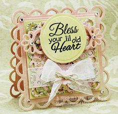 Spellbinders Lacy square, Classic square, Nestabilities Label Four, Spellbinders Rose Creations