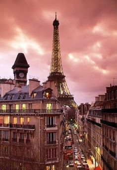 Paris after a sunset