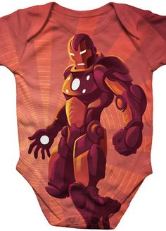 39ca36eef14 Superhero Onesie Repulsor Blast Iron Man Geeky baby by Crowsmack