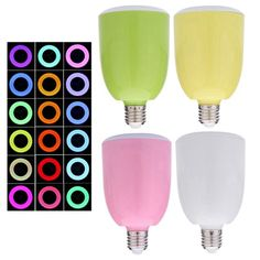 18.29$  Buy now - http://alivzw.shopchina.info/go.php?t=32656570010 - Remote Control Music Player Bluetooth Speaker Energy-Saving E27 18 Colors Change LED Bulb Light Lamp For IOS Android SmartPhone  #aliexpressideas