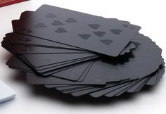 Monochromatic Deck of Cards: The avid card player would drool over this monochromatic deck of cards ($15).