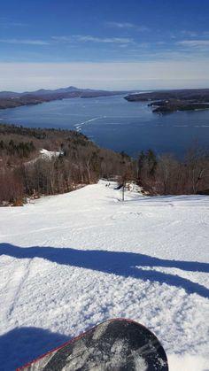 Vue, piste et lac, Owl's Head, Québec Ski Trips, Montreal, Mars, Skiing, Photos, Outdoors, Snow, Mountains, Nature
