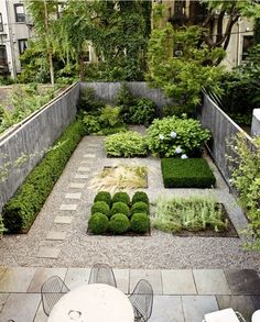 courtyard garden.ordered but with some frivolity