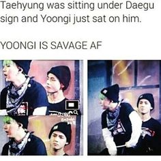 tae's face