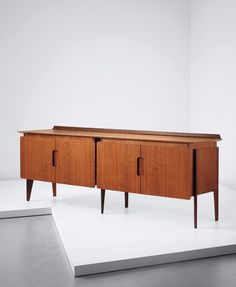 Ico Parisi; Unique Teak and Brass Sideboard for the Rizzi Family, c1959.