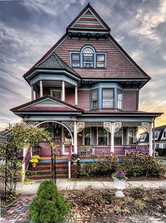 Victorian House, Ocean Grove, New Jersey Victorian Architecture, Beautiful Architecture, Beautiful Buildings, Beautiful Homes, Beautiful Ocean, Victorian Style Homes, Victorian Cottage, Victorian Houses, Abandoned Houses