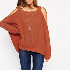 Why hide? Show off your flirty side with this chic off shoulder knitted sweater!So get this for these winters.. Details: - Sweaters - Off-shoulder - Knitted - Woollen - Jumpers - Knitwear - Fabric:Cot