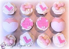Hen-do cupcakes........ Wedding Cupcakes, Party Cupcakes, Fondant Rose Tutorial, Hen Party Cakes, Hens Night, Party Cups, Novelty Cakes, Craft Party, No Bake Cake