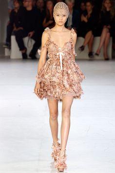 Alexander McQueen Spring 2012 - Model: Josephine Skriver