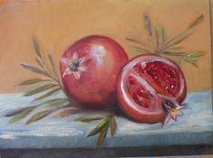 pomegranates oil on canvas Jerusalem, Israel 2012