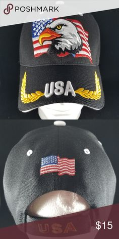 wholesale dealer 4bc97 de677 USA Patriotic Embroidered Eagle Adjustable Cap USA Patriotic Embroidered  Eagle Adjustable Cap Perfect for Memorial Day
