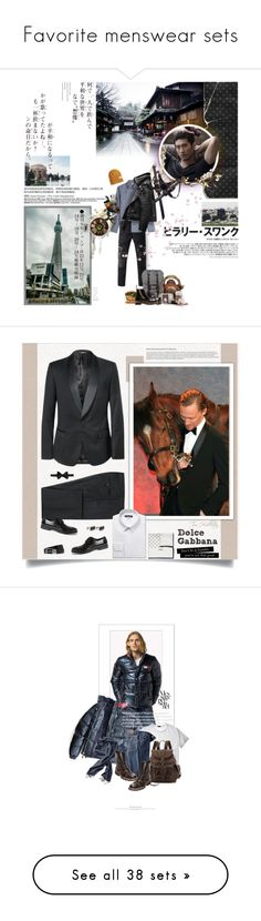 """""""Favorite menswear sets"""" by sunnydays4everkh ❤ liked on Polyvore featuring art, Dolce&Gabbana, Lanvin, Drakes London, Dunhill, dolceandgabbana, tomhiddleston, Suits, polyvoreeditorial and lookmale"""