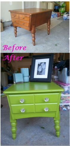 A simple paint job can take a cheap thrift store find with good bones to a beautiful piece