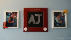 {Project Home} A Toy Story Bedroom...etch a sketch chalkboard made from a thrifted mirror