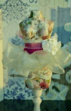 Galina - Decoupage paper mache ballerina mannequin art doll by brandie