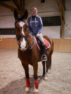 Biene sagt ein paar Worte zu ihrem neuen Pferd Siggi  #wallach, eigenes Pferd, neues Pferd, brauner wallach, Freizeitpferd