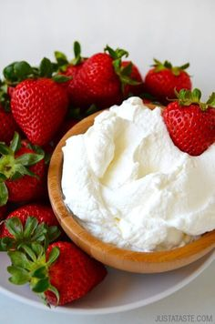 Secret Ingredient Homemade Whipped Cream | recipe via justataste.com