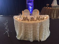 Better view of our White Rosette Table Cloth