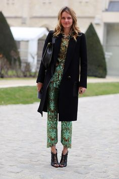 Brocade on brocade, mix bright and subdued hues for an interesting day-to-night look.     via @Dree Harper