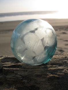 glass fishing float found in AK #glassfloatjunkie