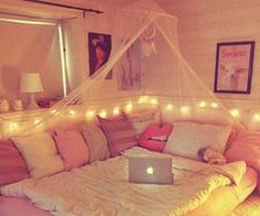 love how cozy it looks and i want to put my Christmas lights like this too