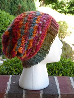 34ce182e2ac8 Women's Slouchy Hat in Sunrise Colors, Crochet Slouchy Hat, Women's Fall Hat,  Winter Hat, Slouchy Beanie in Sunrise Colors, Women's Fashion