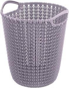 Kôš Curver® KNIT PAPER BIN 7L, svetlofialový, 24x27x23 mm, na papier Laundry Basket, Wicker, Organization, Knitting, Modern, Home Decor, Baskets, Products, Paper Basket