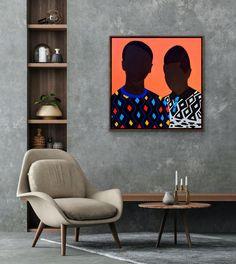 Shakes Tembani: Brothers: fine art | StateoftheART Puff And Pass, Canvas Size, Original Artwork, Brother, Fine Art, Painting, Painting Art, Paintings, Visual Arts