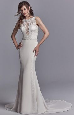Courtesy of Sottero and Midgley Collection of Maggie Sottero Wedding Dresses; Wedding dress idea.