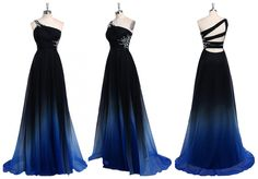Elegant A-Line One-Shoulder Navy Floor Length Bridesmaid Dress with Beading