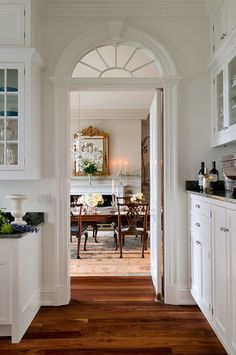 LIKE: arched doorway + transom above  |  Connecticut Estate - traditional - hall - new york - Crisp Architects