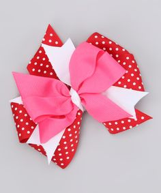 Red & Pink Valentine's Day Polka Dot Bow