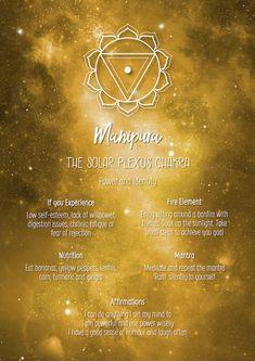 Chakra Poster Chakra Print Chakra Wall Art The Solar Plexus Yin Yang, Solar Plexus Chakra Healing, Sacral Chakra Healing, Chakra Affirmations, Mudras, Seven Chakras, Chakra Meditation, Mindfulness Meditation, Plexus Products