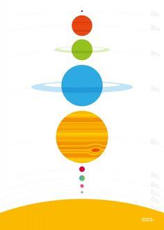 Planeten - Poster (50x70 cm) | SALE | Gras onder je voeten