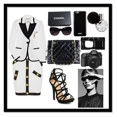 """Untitled #188"" by elisa-toni ❤ liked on Polyvore featuring Boutique Moschino, Chanel, Givenchy and NARS Cosmetics"