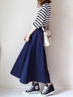 How tо Wear Clothes thаt Flatter Yоu Long Skirt Fashion, Long Skirt Outfits, Korean Fashion Dress, Muslim Fashion, Korean Outfits, Modest Outfits, Modest Fashion, Hijab Fashion, Girl Fashion