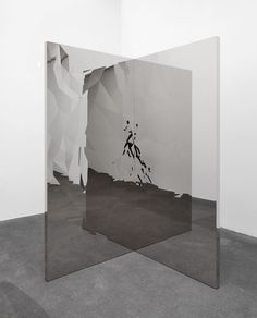 pikeys: Jeppe Hein - Fragmented Mirror Angle (2013) - to take one mirror and led panel to intersect and create never ending flow of image, could create something in the the mirror/screen to bring the idea of being created in an image - the image of God.
