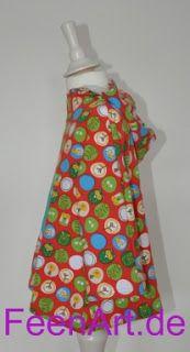 Kinderkapuzenshirt mit türkiser Eule - linke Seite