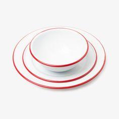Red Enamel Dinnerware