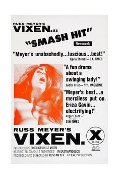 Poster of Vixen directed by Russ Meyer, 1968 X Movies, Cult Movies, Films, Horror Movies, Roman Photo, Russ Meyer, Bad Film, Film Movie, Perfect Movie