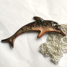 enamel pendant - dolphin £7.50