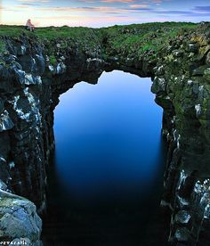 Natural arch, Snæfellsnes, Iceland. A Beauty of Nature! #ravenectar