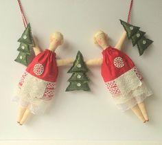Christmas Garland Christmas bunting Christmas by CherryGardenDolls