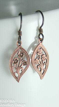 Leaf earringHypoallergenic earringsNiobium earring Niobium