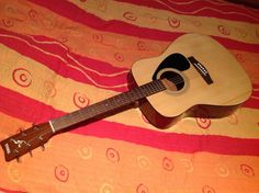 The Yamaha F310 acoustic guitar, perfect for beginners